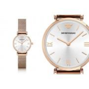 Emporio Armani Ladies' Rose Gold Stainless Steel Watch