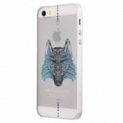 Husa Silicon Transparent Slim Wolf Apple iPhone 5 5S SE