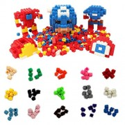 Micro Blocks Set Pixel Bricks - Lego Brick Blocks 1500 Pieces 6 Side Connectors 100 Each of 15 Colors