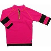 Tricou de baie pink black marimea 104- 116 protectie UV Swimpy