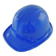 Windy City Novelties Childrens construcción azul de plástico duro Sombreros - 6 unidades)
