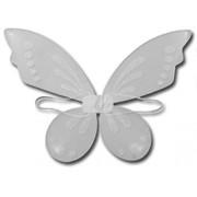White Girls Fairy Princess Winter Sparkle White Costume Wings