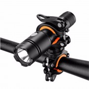 360 Degree Rotation Cycling Bicycle Bracket Flashlight Torch Mount LED Head Front Light Holder Clip Bicycle Accessories
