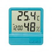Termometru camera copii cu ceas alarma si higrometru BLEU