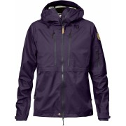 FjallRaven Keb Eco-Shell Jacket W - Alpine Purple - Vestes de Pluie S