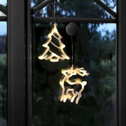 LED silhouettes Reindeer and Tree in a set of 2