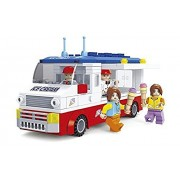 Ausini City Big Ice Cream Truck With Action Figures Building Bricks 259pc Educational Blocks Set Compatible To Lego Parts Great Gift For Children