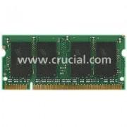 Crucial - DDR2 - 1 Go: 2 x 512 Mo - SO DIMM 200 broches - 667 MHz / PC2-5300 - CL5 - 1.8 V - mémoire sans tampon - non ECC