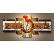 EVA JEKINS Tableaux design Golden Fleurs or