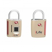 iLife Fingerprint Padlock Smart Biometric Lock Metal Waterproof Portable Security Lock for Gym Door Backpack Lugga