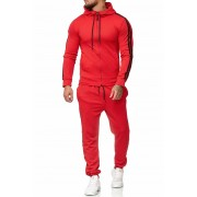OneRedox Jogging Suit Sport Set Tracksuit Pants & Hoodie Sweater Red 1004AC 52003-2