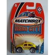 Matchbox Hero City #45 Volkswagen VW Beetle Bug 4x4 YELLOW 1:64 Scale Collectible Die Cast Car