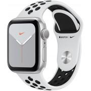 Apple Watch Series 5 Nike 44mm stříbrný hliník s bílým Nike řemínkem