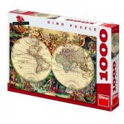 Dino puzzle 1000 kom povijesna karta svijeta