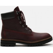 Timberland London Square 6 Inch Ladies Boots Red Purple 39