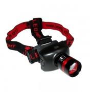 Lanterna Frontala Zoom LED 1W si Acumulator 4V JunAi JA1911