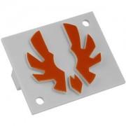 Emblema portocalie Bitfenix pentru carcasa Shinobi