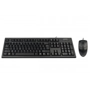 Kit tastatura+mouse USB A4TECH (KR-8520D-USB), black, tastatura wired cu 104 taste si mouse wired cu 3 butoane si 1 rotita scroll, 620dpi
