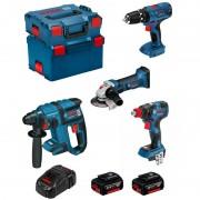 BOSCH Kit PSG4P2DEC (GBH 18V-EC + GSB 18V-21 + GWS 18-125 V-LI + GDX