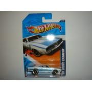 2011 Hot Wheels 69 Dodge Charger White #166/244
