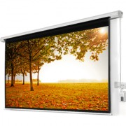 ELCOR Motorized Projection screens 5ft x 7ft with 100 Diagonal In HD 3D 4K Technology (Imported matte white fabric)