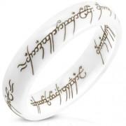 Fehér kerámia gyűrű, Gyűrűk ura Egy gyűrű felirattal-9