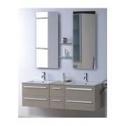 items-france RIVIERA2 BEIGE - Meuble salle de bain contemporain 150x48 beige