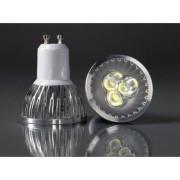 GU10-3Power-220VWW 3W Meleg fehér LED izzó