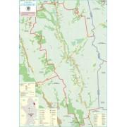 Harta Comunei Colonesti OT - sipci de lemn