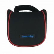 Ismartdigi i204 Mini DSLR DV camara de almacenamiento de bolsa para Nikon? Canon? Sony? Olympus - Negro + Rojo