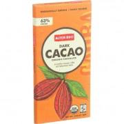 Alter Eco Americas Organic Chocolate Bar - Dark Cacao - 2.82 oz Bars - Case of 12