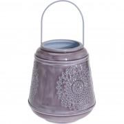 Felinar din aluminiu Larmes, violet, 19 cm