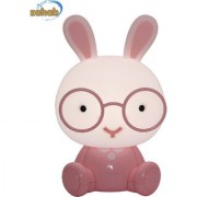 Zahab Pink Bunny Cartoon Led Desk Lamp/Table Lamp/Night Light for Kids Children Reading Study in Living Room Bedroom