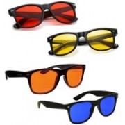 SRPM Wayfarer Sunglasses(Red, Blue, Yellow, Orange)
