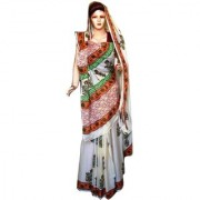 Sprint Multicolor Voile Printed Saree With Blouse