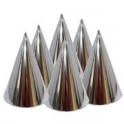 Kicsi kalap, fényes, ezüst 6 db/cs