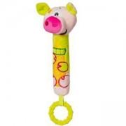 Бебешка Писукаща играчка с гризалка прасенце - 1356 Babyono, 9070184