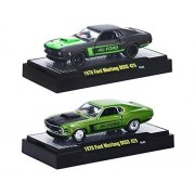 M2 Machines Detroit Muscle Wild Cards 1970 Ford Mustang Boss 429 Set Of 2 1/64 W/ Cases