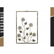 Kapelańczyk Dekorative Rahmen mit Blumen aus Metall - Blumen Rahmen