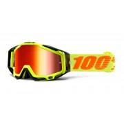100% Racecraft Extra Gafas de Motocross Amarillo un tamaño