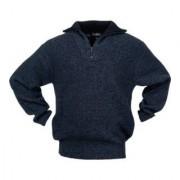 Industrial Quality Supplies Pullover taille M noir/bleu moucheté 100 % PES