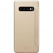 Husa Flip Cover Nillkin Agenda Sparkle Piele Auriu pentru SAMSUNG Galaxy S10 Plus