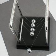 Funwill Classic Newtons Cradle Balance Ball Desktop Orbital Desk Decoration for Home and Office Art Work Kit-Silver & Black