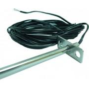 Termistor 10K (Type 2) TEMCO CONTROLS DTS-FL-8-6-7, montare in circuite HVAC, sonda 8'', cablu ignifugat, 15cm
