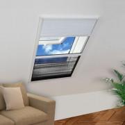 vidaXL Ecran insecte pentru ferestre, cu umbrar, aluminiu, 60x80 cm