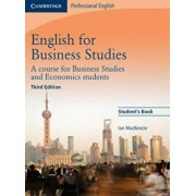 English for Business Studies Student's Book, Paperback/Ian Mackenzie