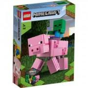 Конструктор Лего Майнкрафт - BigFig прасе с бебе зомби, LEGO Minecraft 21157