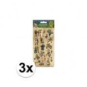 Merkloos 3x Stickervel Shrek