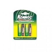 Batterij oplaadbaar AA R6 2200 mah 4 st. Konnoc