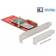 PCI Express la 1 x NVMe M.2 Key M 110 mm cu radiator, Delock 89577